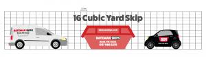 16 yard skip comparison against car and van