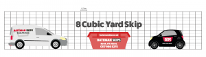 8 yard skip comparison against car and van