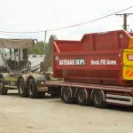 20 yard roro and 12 yard skip being delivered