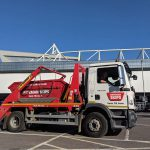 Truck outside ashton gate stadium